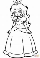 Coloring Mario Peach Pages Bros Princess Printable Popular sketch template