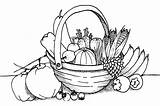 Coloring Vegetable Pages Fruit Printable Gardens sketch template