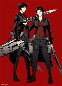 Levi and Eren: Attack on Titan   Shingeki no kyojin ...