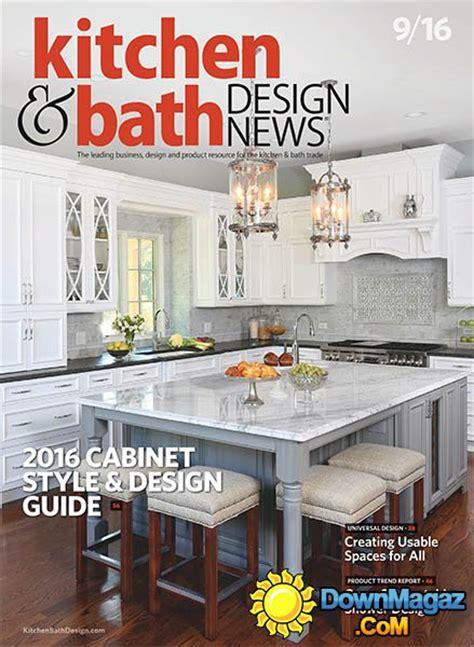 bathroom design magazines kitchen bath design september 2016 pdf