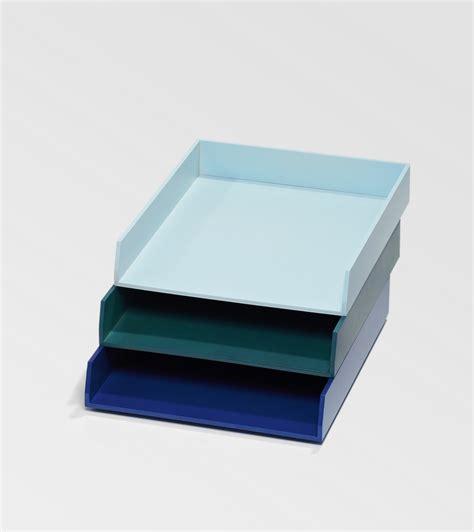 bannettes de bureau bleues pour le rangement kollori com