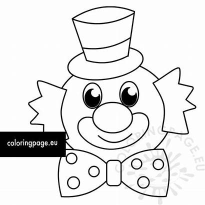 Clown Carnival Coloring Happy Birthday Coloringpage