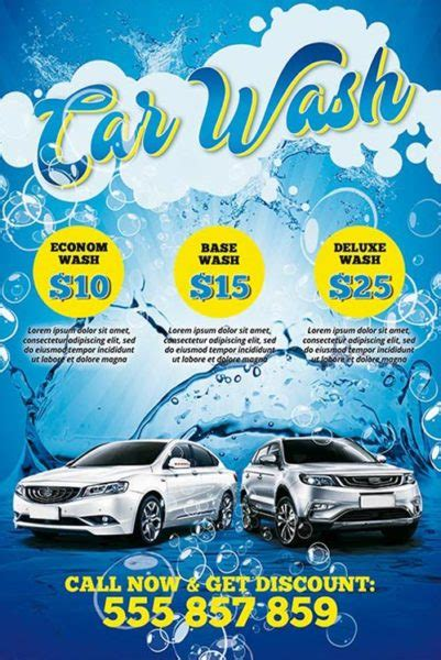 the car wash free psd poster template