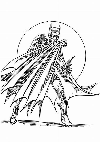 Batman Coloring Action Pages Hero Heroes Pets