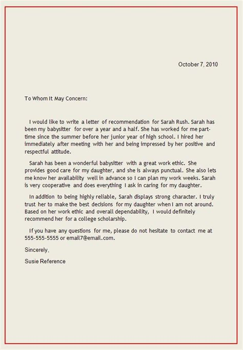 letter for recommendation personal letter of recommendation reference letter1
