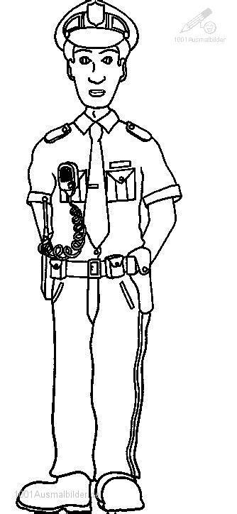 Malvorlage Polizei Polizist