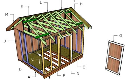 10x12 Gable Storage Shed Plans by 10x12 Gable Shed Roof Plans Howtospecialist How To