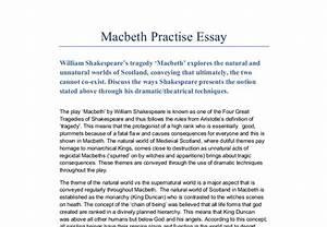Macbeth essay thesis peace corps essays macbeth essay topics grade ...