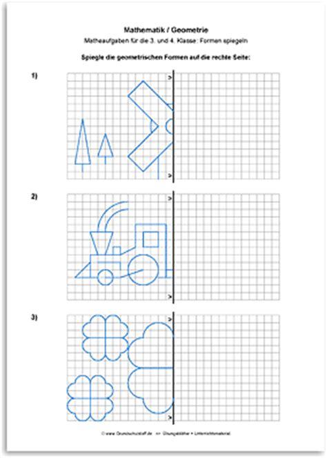 arbeitsblatt mathematik geometrie geometrische formen