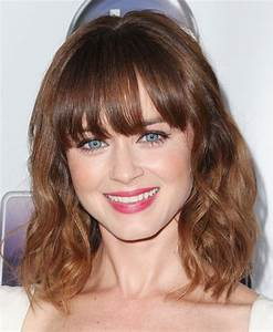 Alexis Bledel Medium Wavy Cut with Bangs - Medium Wavy Cut ...