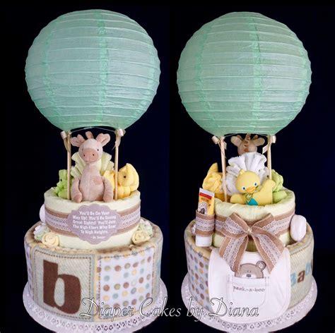hot air balloon gender neutral diaper cake wwwfacebook
