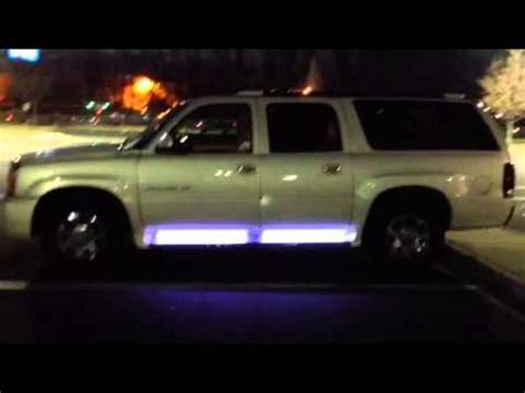escalade led running board courtesy light install youtube