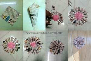 How to make Paper Dahlias - DIY Wall decor - Create And Craft