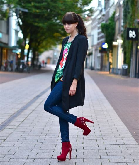Outfit | Red studded boots u00ab Lovely by Lucy