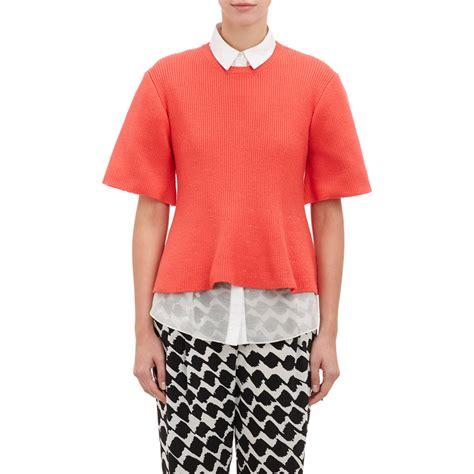 sweater blouse combo 10 crosby derek lam sweater peplum shirt combo in