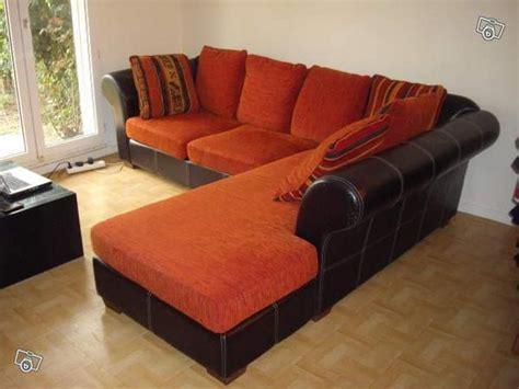 canape d angle orange canape d 39 angle avec 7 coussins