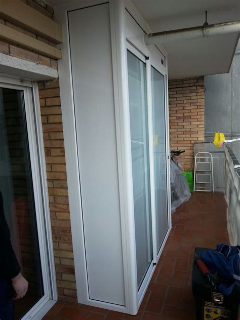 armarios de terraza en aluminio materiales de