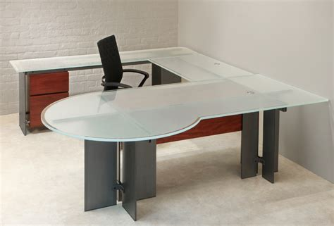 frosted glass cabinets u shaped desk stoneline designs