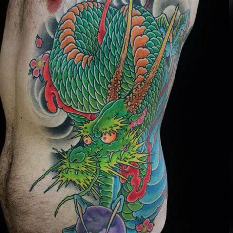 side japanese dragon tattoo  guru tattoo
