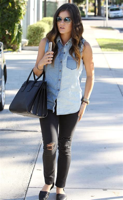 Lucy Hale Street Style - Out in Beverly Hills, October ...
