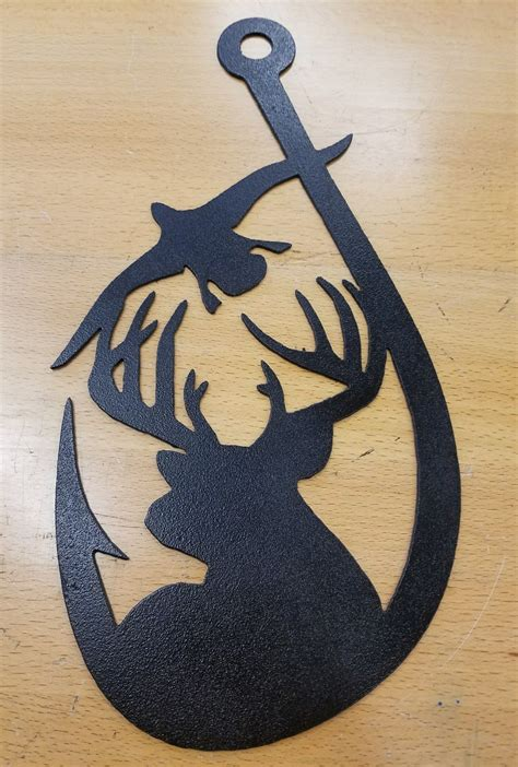 deer goose hook metal wall art plasma cut home decor gift idea gas pro shop fabrication