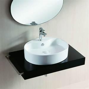 Waschbecken Oval Aufsatz : aufsatz waschbecken keramik oval flach 56x46cm ~ Orissabook.com Haus und Dekorationen