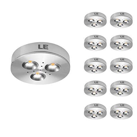 le 10 pack led cabinet lighting puck lights 12v dc
