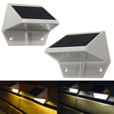 solar powered led light pathway step stair wall mounted
