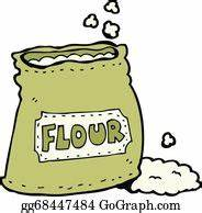 Flour Bag Clip Art - Royalty Free - GoGraph