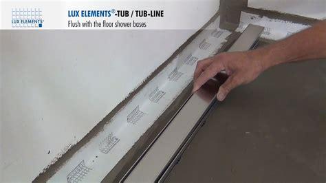 lux elements installation flush   floor shower