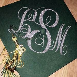 graduation cap decal graduation cap decoration monogram With iron on letters for hats