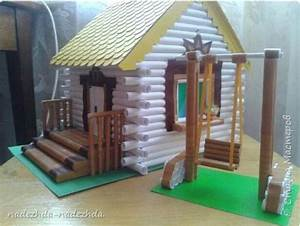 How to make a house with paper tube ~ Crazzy Craft