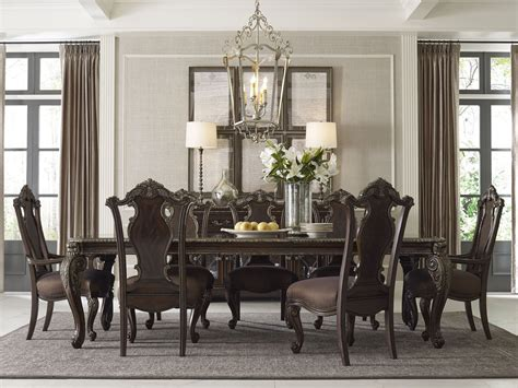 Gables Leg Pedestal Extendable Dining Room Set From Art