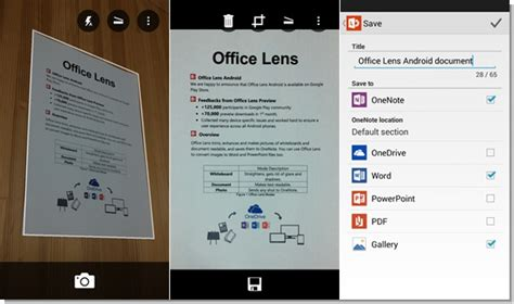 digitalize documentos   office lens