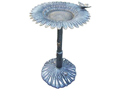 5157 hammock with cover oakland living sunflower cast aluminum butterfly bird bath