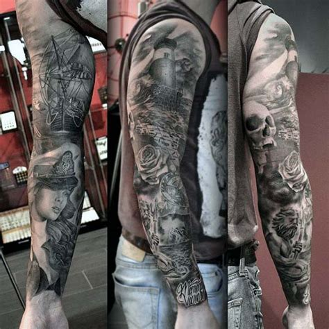 amazing nautical sleeve tattoos ideas  designs