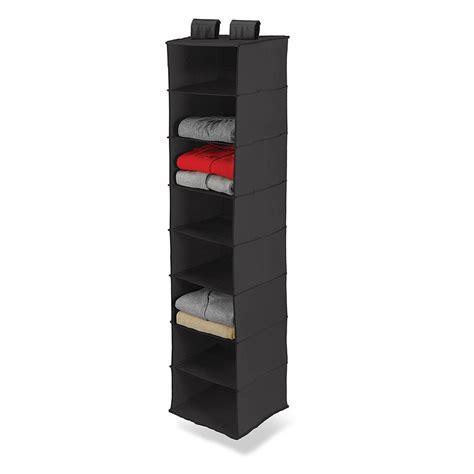 sweater storage black 8 pocket shelf hanging sweater clothes organizer
