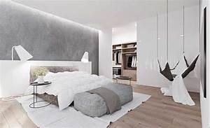Schlafzimmer Weiß Grau : sch ne schlafzimmer ideen grau und wei und braun in der farbe enthalten eine h ngende ~ Frokenaadalensverden.com Haus und Dekorationen