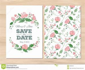 vector wedding invitation with watercolor flowers stock With wedding invitation templates illustrator download free