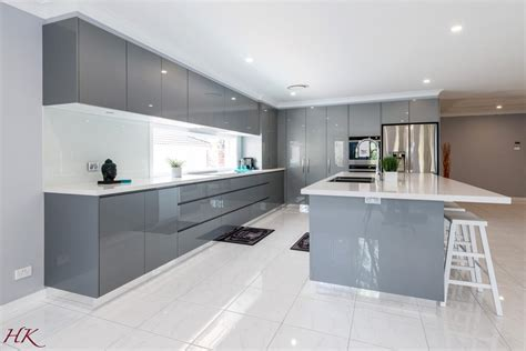 Grey Contemporary Kitchen Cabinets