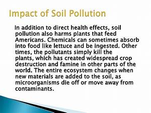 Soil pollution, health effect of the soil