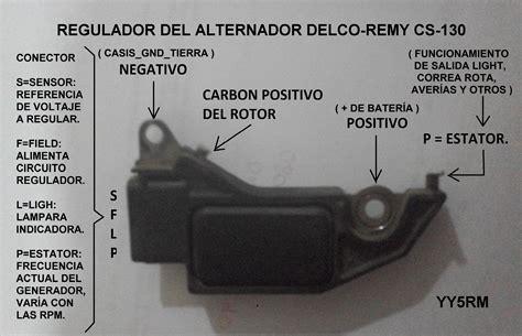 regulador alternador delco remy cs 130