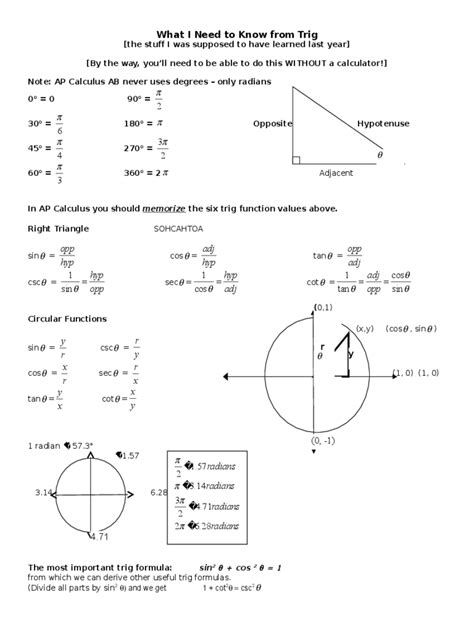 tangent templates cos chart 3 free templates in pdf word excel
