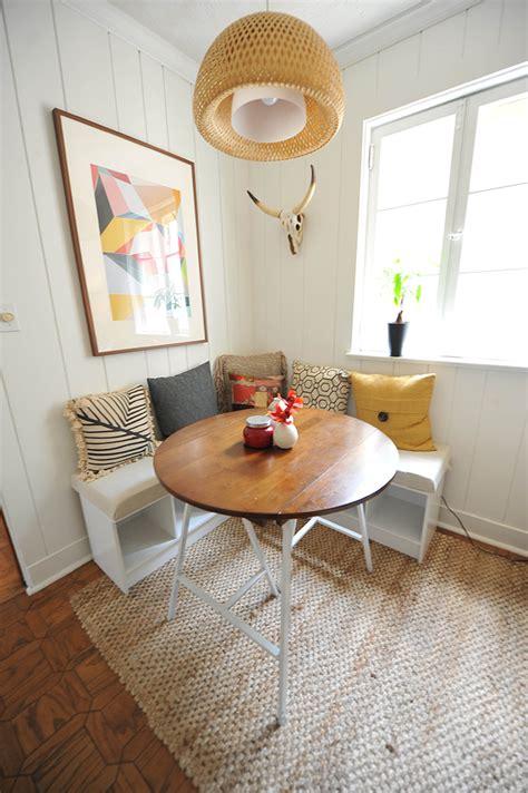 small kitchen nook table ideas diy breakfast nook with white desert modern decor