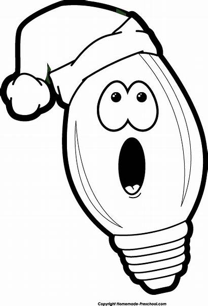 Christmas Clip Clipart Lights Bulb Basketball Cliparts