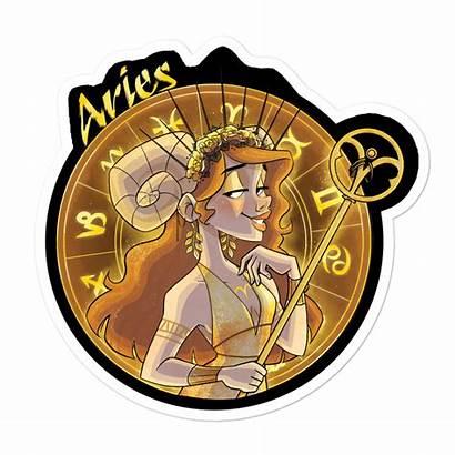 Zodiac Aries Sticker Auditydraws Stickers