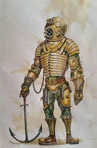 Rf Anchor The Warforged Diver Characterdrawing