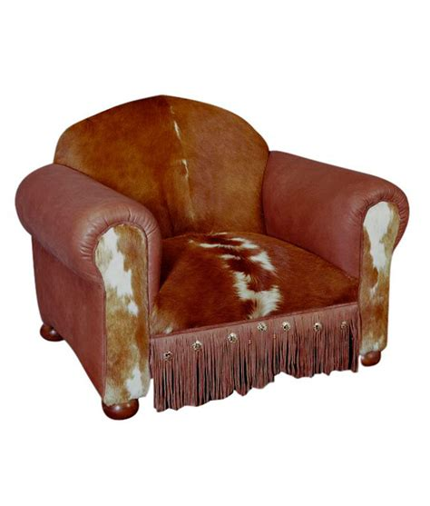 Cowhide Club Chair by Cowhide And Leather Western Club Chair Rusticartistry