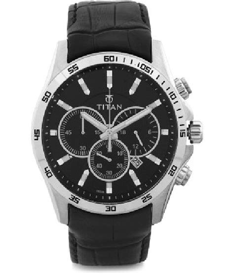 titan black analog titan cacique formal watch 90022sl02j