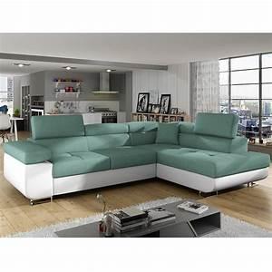 Grand Canapé D Angle Convertible : canap m ridienne convertible en tissu sofamobili ~ Melissatoandfro.com Idées de Décoration